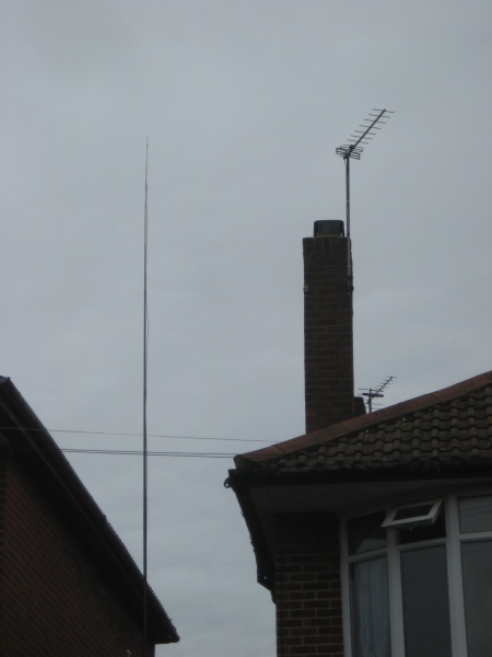File:434MHz Slim Jim on 10m up with TV aerial.JPG